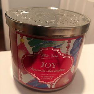 Joy Peppermint Marshmallow Candle